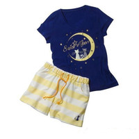 Anime Sailor moon Crystal Luna Cat Moon Harajuku Kawaii Pyjamas Cosplay Costume Lolita Sleepwear Pajamas New Free Shipping