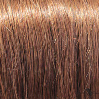 """21"""" Clip In Remy Hair Extensions: Chestnut Brown No. 6"""