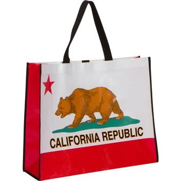 California Republic Recycled Shopping Tote Bag - Large Size