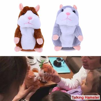 Talking Hamster Kids Plush Toys Pet Learn To Speak Talking Sound Record Hamster Stuffed Doll Toy for Children Kids Gift