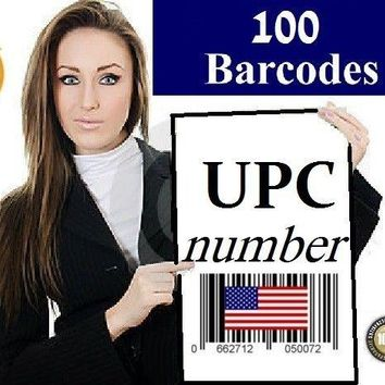100 UPC Numbers Barcodes Bar Code GS1-approved EAN Amazon Lifetime one time buy