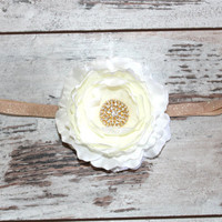 NEW 2013 The GOLD RUSH Headband - Perfect for Birthdays, Weddings, Holidays, Spring, Summer, Newborn, Photo props, Family Photos