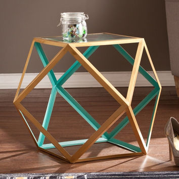 Upton Home Joss Blue/ Champagne Accent Table   Overstock.com Shopping - The Best Deals on Coffee, Sofa & End Tables