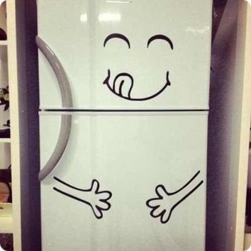Cute Fridge Yummy Face Vinyl Decal