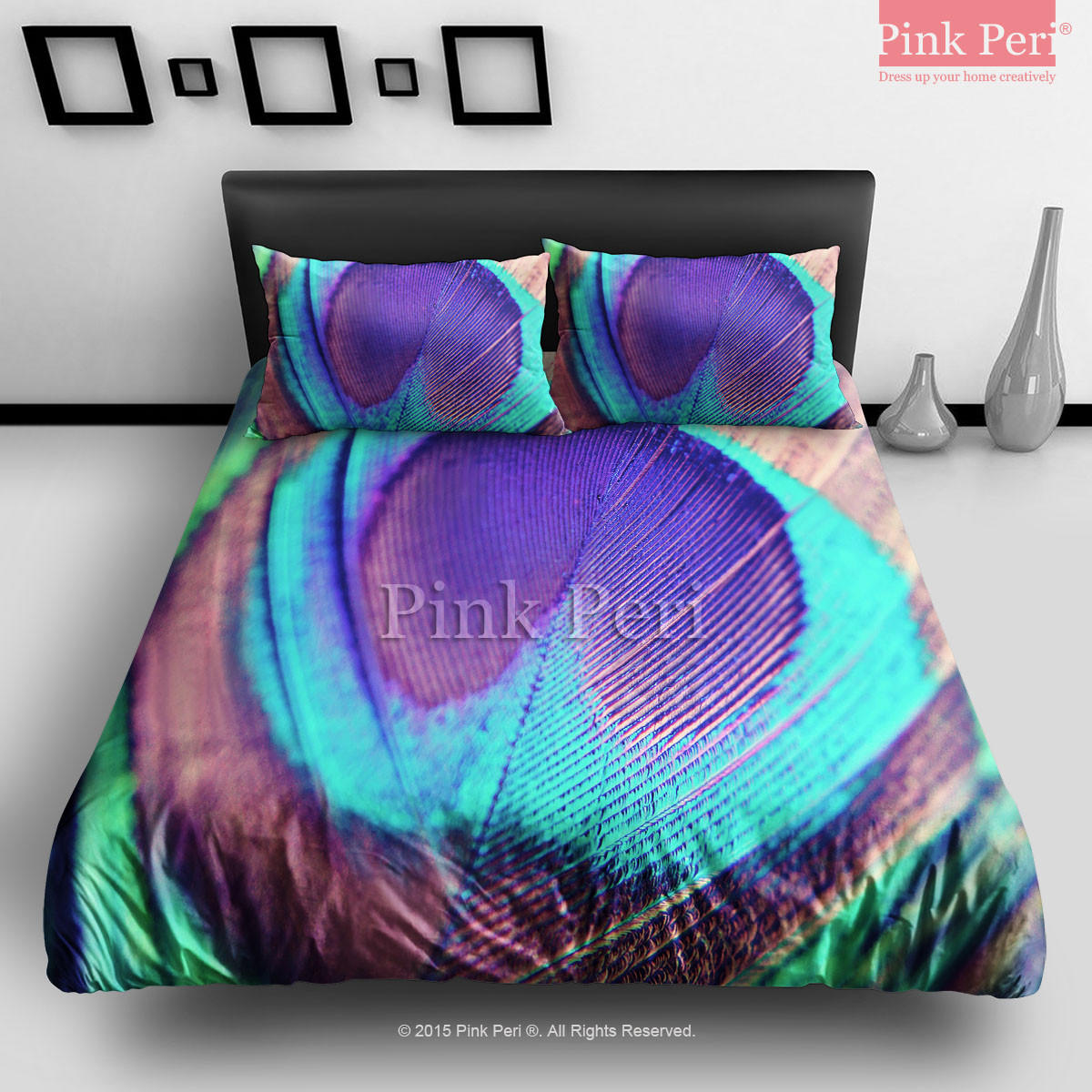 Peacock Feathers Galaxy Bedding Sets Home From Pink Peri