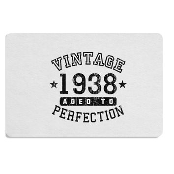 80th Birthday Vintage Birth Year 1938 Placemat by TooLoud