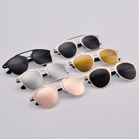 Retro Dual Horizontal Beam Full Frame Sunglasses