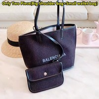 Balenciaga new fashion large capacity cotton and linen shopping bag handbag shoulder bag 1#
