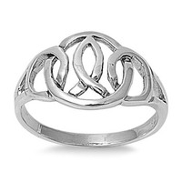 925 Sterling Silver Wicca Pagan Conception Ring