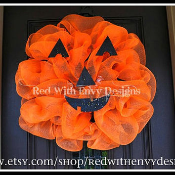 Pumpkin Wreath, Halloween Wreath, Wreath, Pumpkin, Pumpkin Decoration, Pumpkin Decor Halloween Decoration, Door Hanger