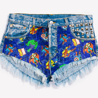 RWDZ x MARVEL Legendary Studded Shorts