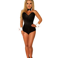 Holloween Costume Black Women's Sexy Bunny Costume Rabbit Girl Costume S-2XL nightclub cute rabbit uniform temptation Jumpsuit