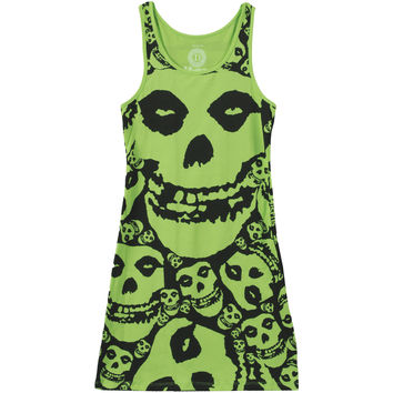 Misfits Women's  Lime Green Dress Work Dress Lime