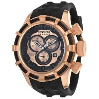 Invicta Men's Bolt Analog Display Swiss Quartz Black Watch 15778