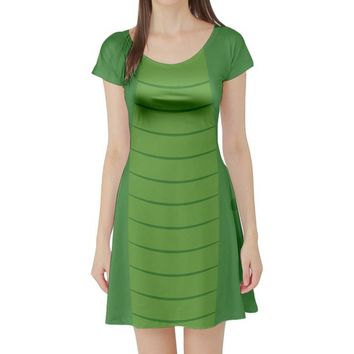 Elliott Pete's Dragon Short Sleeve Skater Dress