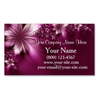 Pink Floral Business Cards from Zazzle.com