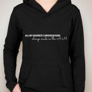 CREYUG7 One Direction 'All My Favorite Conversations Always Made in the A.M.' Unisex Adult Hoo