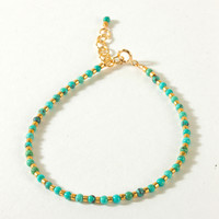 Turquoise with Gold Seed Beads, Gold Dipped | Dogeared