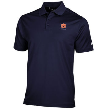 Auburn Tigers Under Armour Solid Performance Polo – Navy Blue