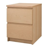 MALM Chest with 2 drawers - birch veneer - 40x55 cm - IKEA