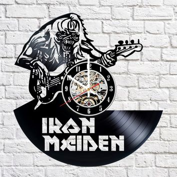 Iron Maiden VINYL RECORD WALL CLOCK UNIQUE DESIGN