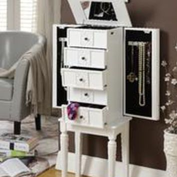 Acme Tammy Jewelry Armoire, White