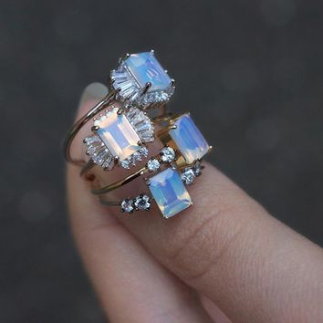 CHAMPAGNE. Opal Cocktail Gold Ring – REGALROSE