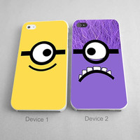 Despicable Me Minion Couples Phone Case iPhone 4/4S, 5/5S, 5C Series, iPhone 6, 6plus - Hard Plastic, Rubber Case
