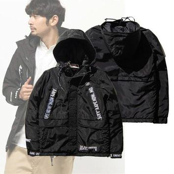 AAPE BAPE Hip Hop Cotton jacket down jacket Coat M--XXL