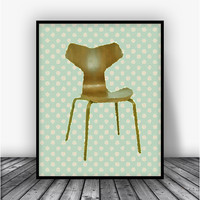 Grand Prix Chair Art Print Poster
