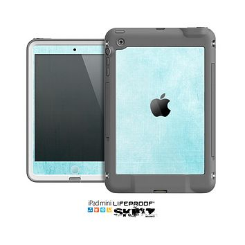 The Vintage Blue Textured Surface Skin for the Apple iPad Mini LifeProof Case