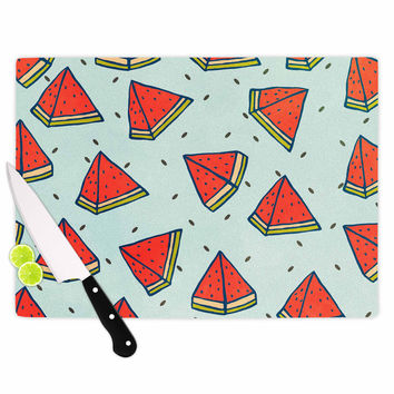 "Strawberringo ""Watermelon Pattern Summer Love"" Fruit Food Cutting Board"