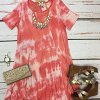 Take a Dip Tunic Dress: Coral