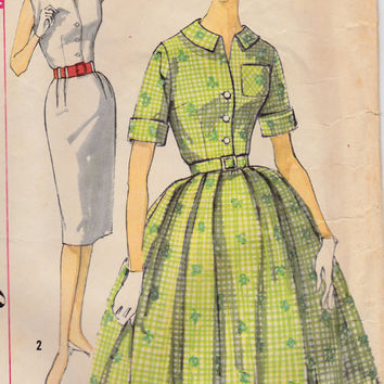 dca95680f SALE 1960s Misses Sheath Wiggle or Swing Skirt Dress Womens Vintage Sewing  Pattern Simplicity 3486 Bust