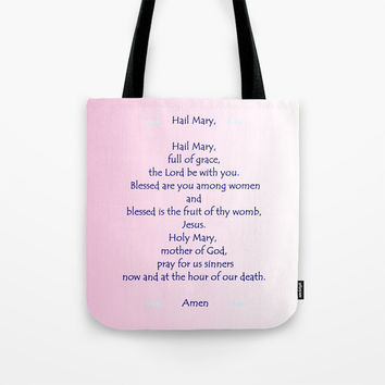 Hail Mary Tote Bag by Zia