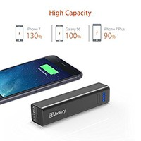 Jackery Mini Premium 3350mAh Portable Charger - External Battery Pack, Power Bank, & Portable iPhone Charger for iPhone 7, 7 Plus, 6s, 6s Plus, iPad, Samsung Galaxy S7, Samsung Galaxy S6 (Black)
