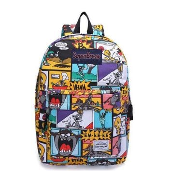 PEAPIX3 On Sale Back To School Comfort Casual College Hot Deal Cartoons Rabbit Anime Stylish Waterproof Canvas Backpack [4962071748]