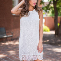 Truly Transfixed Dress, White
