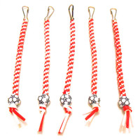 Red and White Soccer Rexlace Keychains