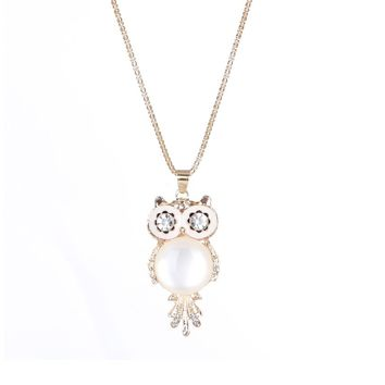 Crystal Owl Bohemia Vintage Punk Pendant Necklace