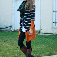 All I Have Cardigan, Black/Orange