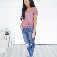 The Aiden Tee - Rose