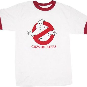 Ghostbusters Original Logo White T-shirt - Ghostbusters -   TV Store Online