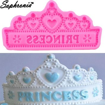 Sophronia DIY Princess Crown Silicone Cake Mold for Chocolate Jelly Baking Mould Sugar Craft Tool Fondant Cake Decorating Tools