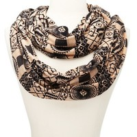 Tribal Print Infinity Scarf: Charlotte Russe