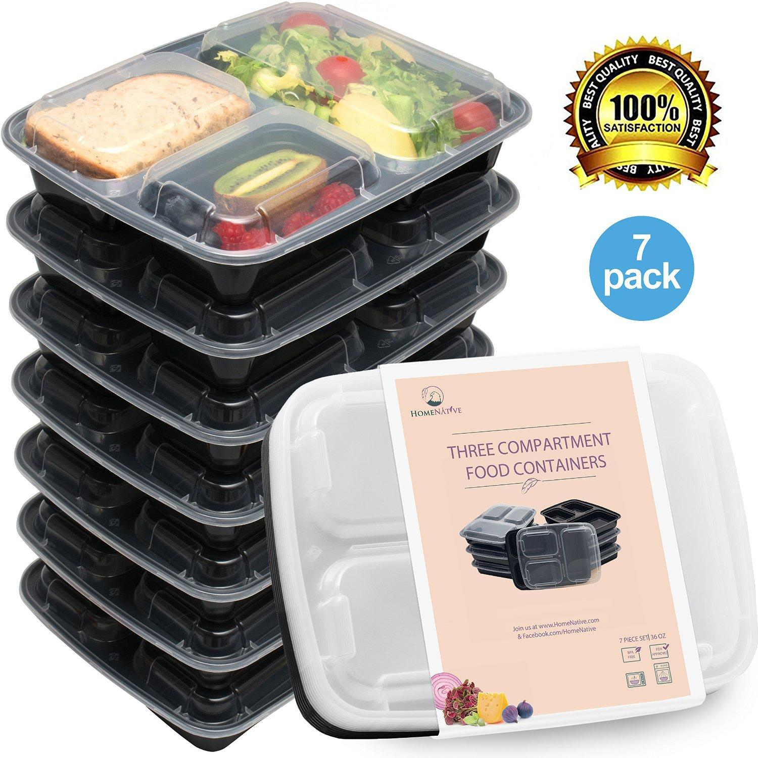 meal prep containers set bento lunch from amazon apartment. Black Bedroom Furniture Sets. Home Design Ideas