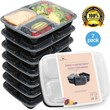 Meal Prep Containers Set - Bento Lunch Boxes / Restaurant Food Storage - Portion Control - 7pk,36oz