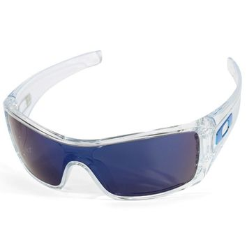 Oakley Batwolf OO 9101-07 Clear/Ice Iridium Men's Shield Sports Sunglasses