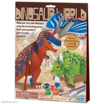 4M Make and Paint Dinosaur World Kits - Toysmith - Pack of 12 kits