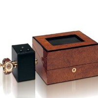 Sempre Module Mechanical Watch Winder in Black Leather by Orbita